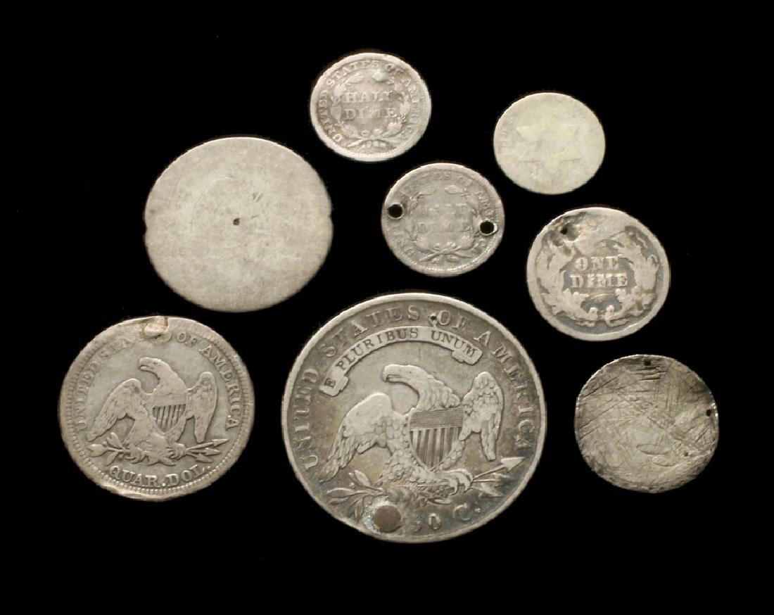 (8) Damaged or Worn Type Coins - 2