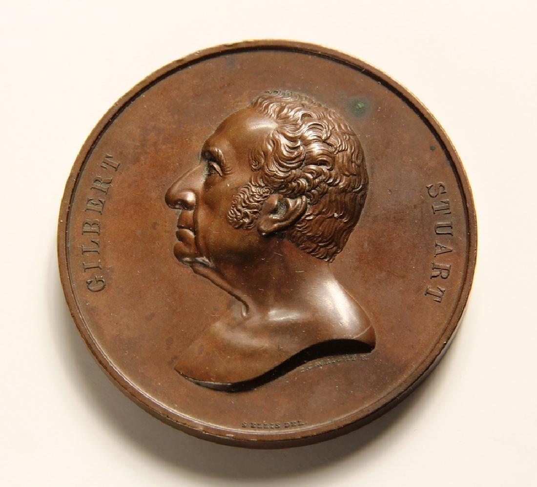 Gilbert Stuart Medal, designed by Salathiel Elliss