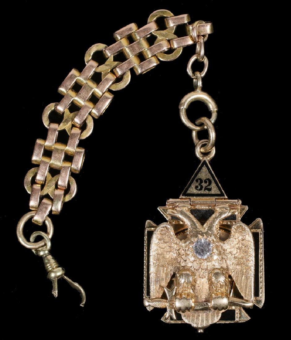 32-DEGREE GOLD WATCH FOB