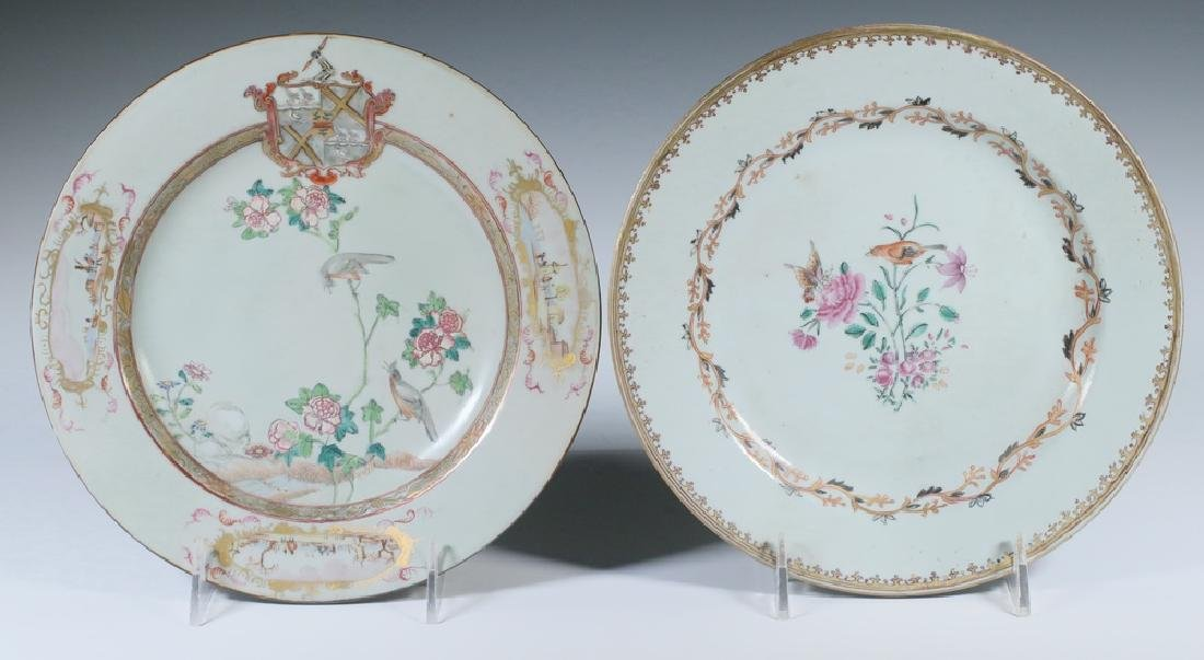 (2) CHINESE EXPORT PORCELAIN PLATES