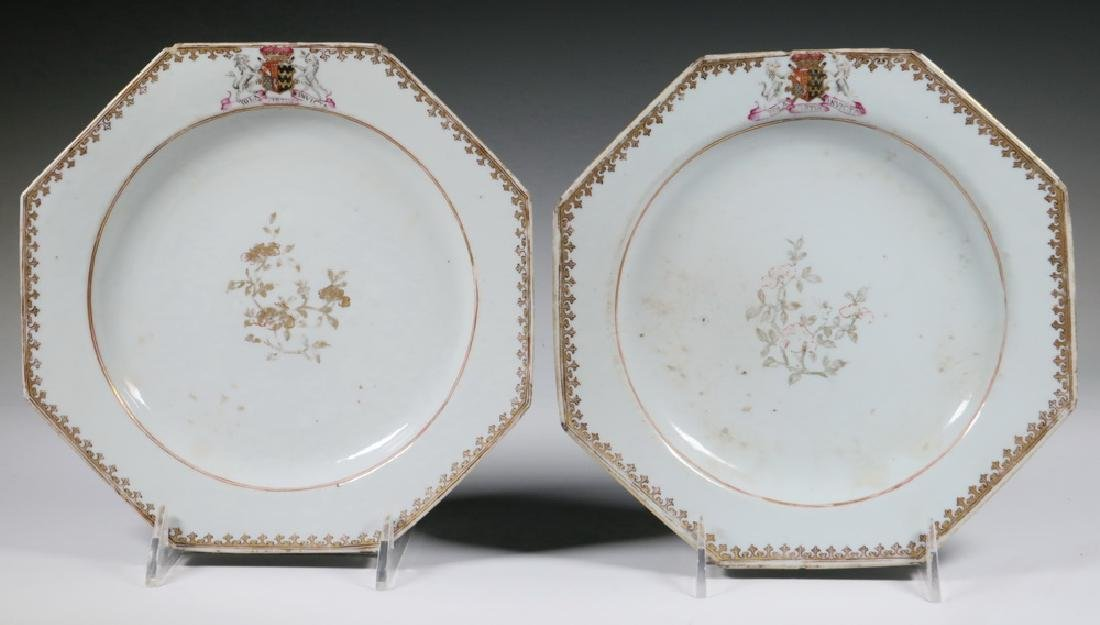 PR CHINESE PORCELAIN ARMORIAL PLATES