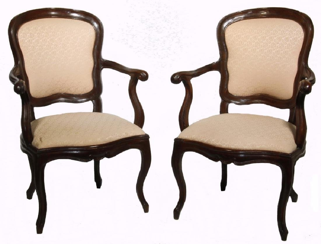 PR OF 18TH C. FRENCH PROVINCIAL ARMCHAIRS