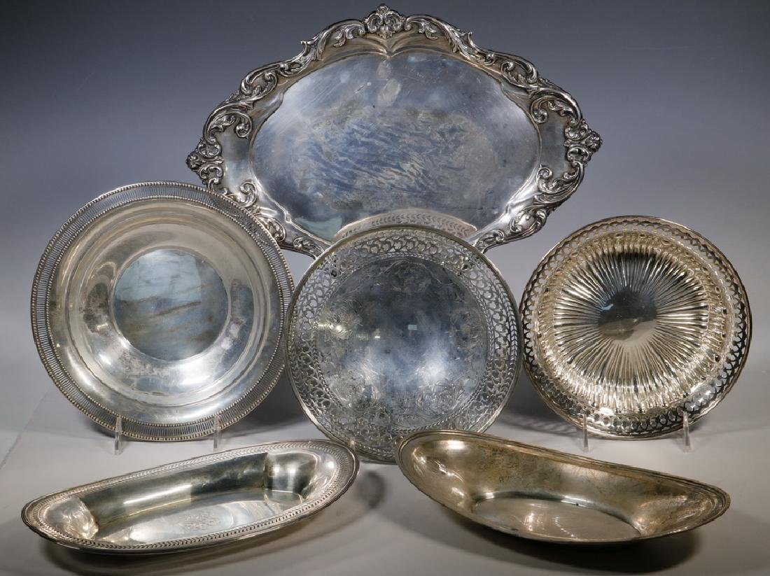 (6) ASSORTED STERLING TRAYS & BOWLS