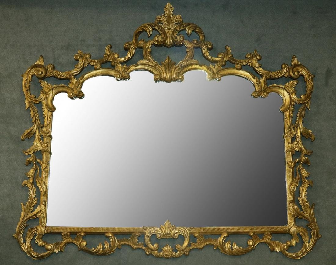 LARGE GILTWOOD FRAMED MIRROR