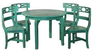 (5 PC.) COUNTRY KITCHEN SET TABLE WITH CHAIRS