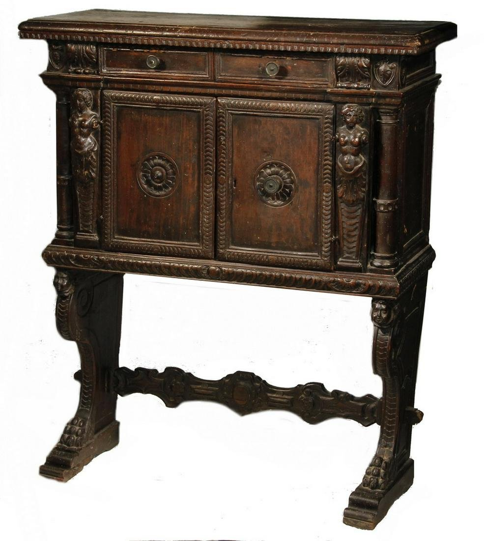 17TH C. TWO-PART COURT CUPBOARD