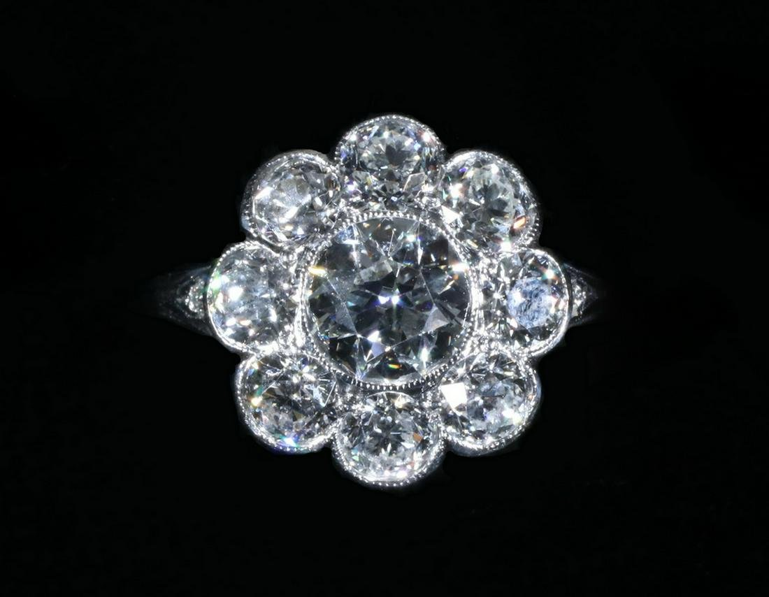 TIFFANY DIAMOND CLUSTER LADY