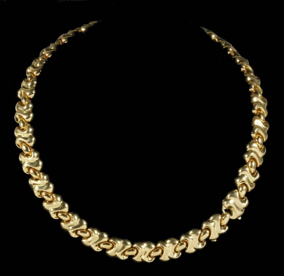 LINK NECKLACE IN 18K YELLOW GOLD