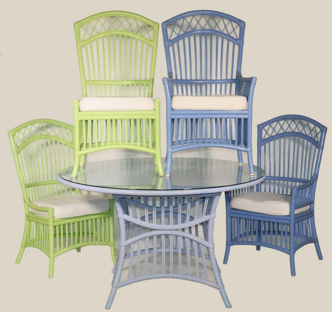 """(5 PC) PATIO DINING SUITE BY """"MAINE COTTAGE"""""""