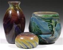 (3 PCS) SALAMANDRA ART GLASS