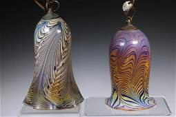 (2) SALAMANDRA ART GLASS LIGHT FIXTURES