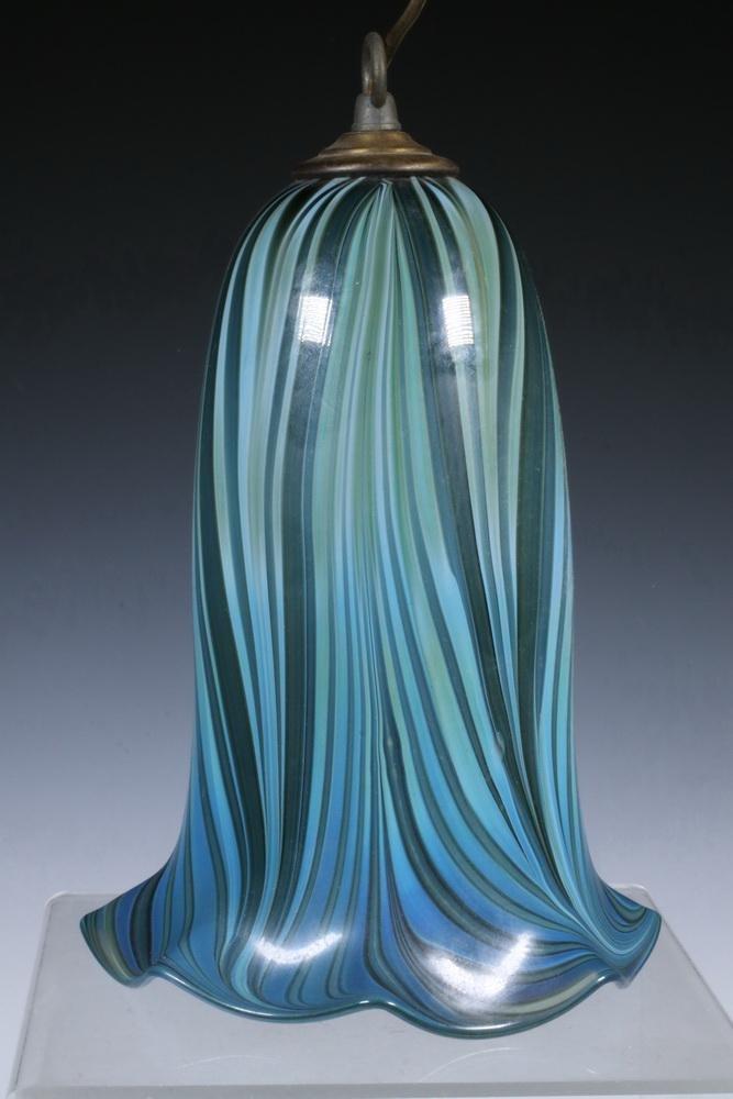 HAND BLOWN STUDIO ART GLASS HANGING LAMP