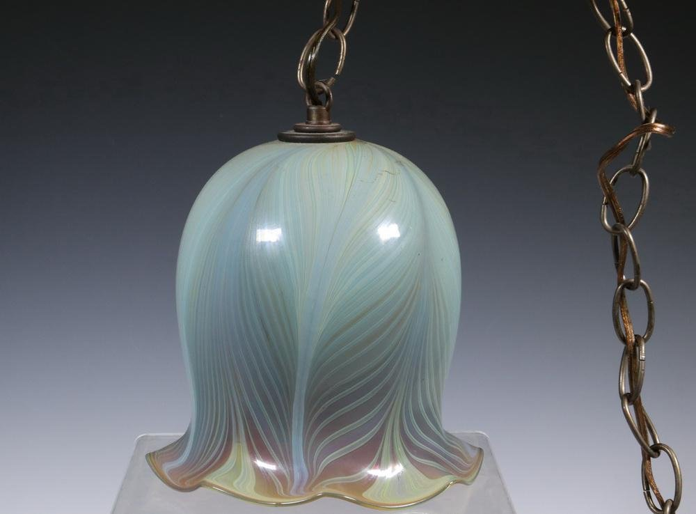 HAND BLOWN STUDIO ART GLASS HANGING LIGHT