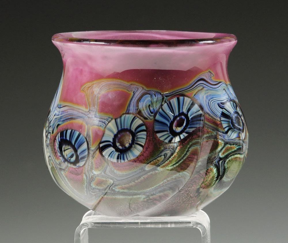 ROBERT EICKHOLT STUDIO ART GLASS VASE