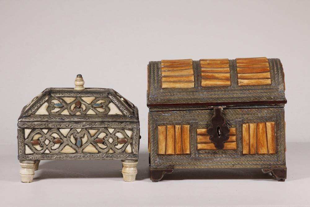 (2) MOROCCAN TRINKET BOXES
