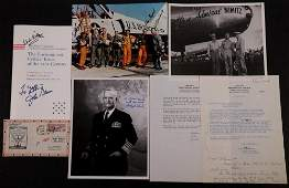LOT OF MILITARY & SPACE AUTOGRAPHS