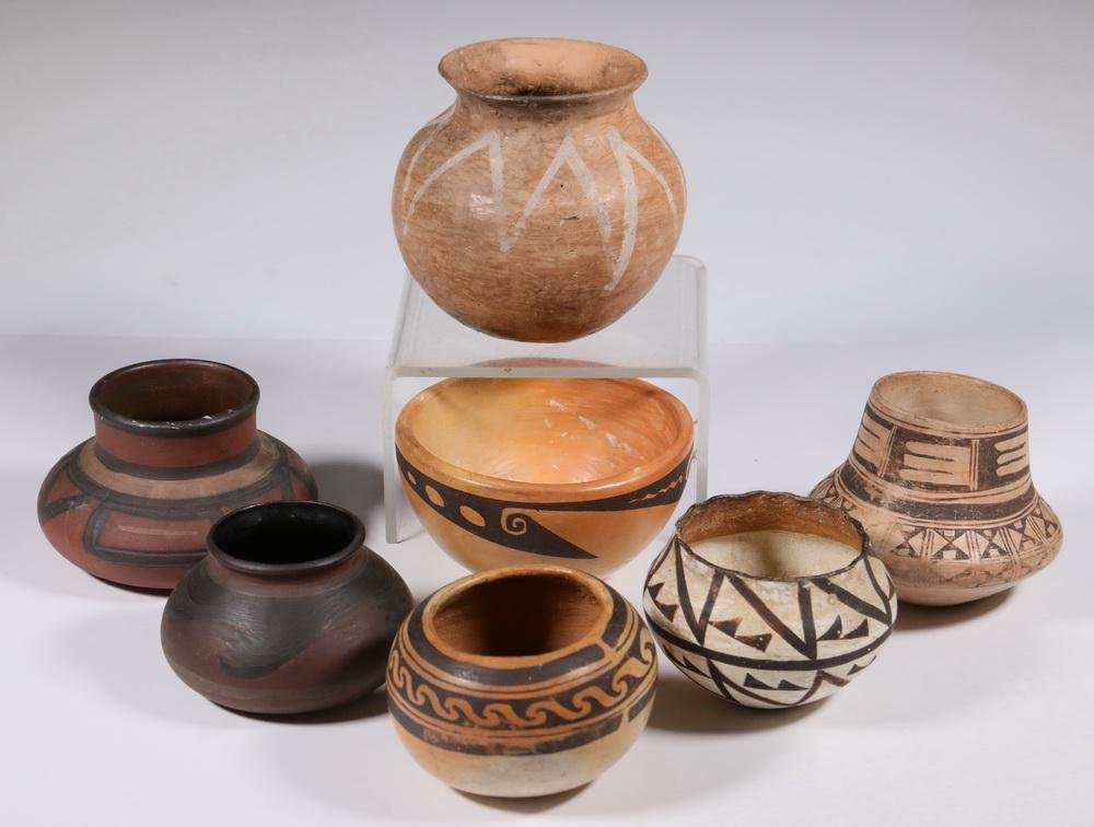(7 PCS) EARLY NATIVE AMERICAN POTTERY
