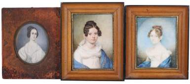 3 EARLY 19TH C MINIATURE PORTRAITS
