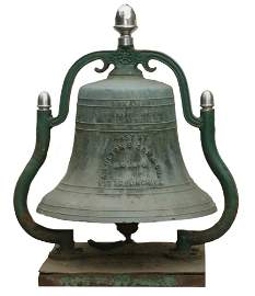 """DECK BELL FROM THE PITTSBURGH RIVERBOAT """"WILLIAM"""
