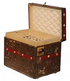 LOUIS VUITTON TRUNK WITH ORIGINAL TRAYS