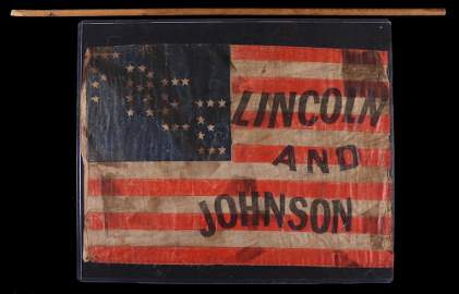 """EXTREMELY RARE 1864 LINCOLN AND JOHNSON """"FREE"""""""