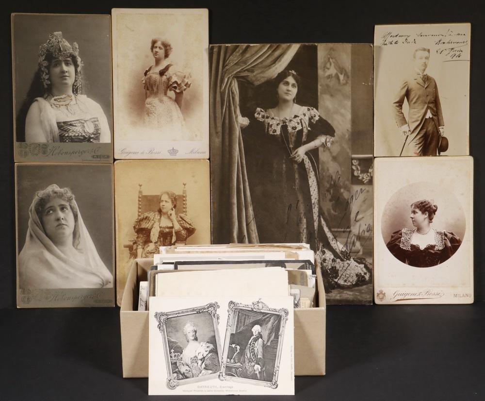 APPROX (50) GERMAN OPERA PHOTOS & POSTCARDS, CA.