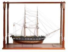 LARGE CASED SHIP MODEL