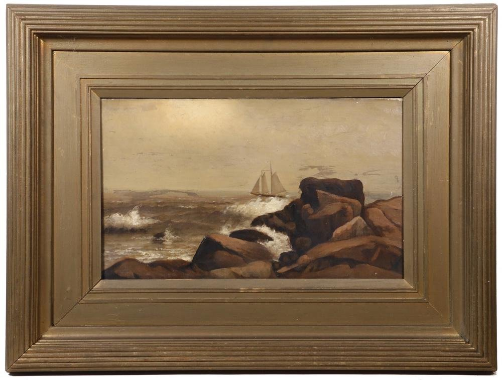 LATE 19TH C. BOSTON SCHOOL MARINE ARTIST