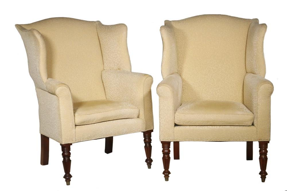 PR OF AMERICAN FEDERAL PERIOD WING CHAIRS