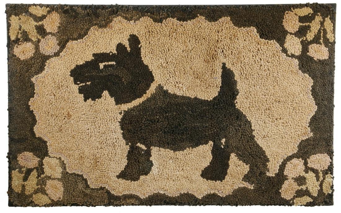 """SCOTTY DOG"""" HOOKED RUG - 19 3/4"""" x 31 1/2"""