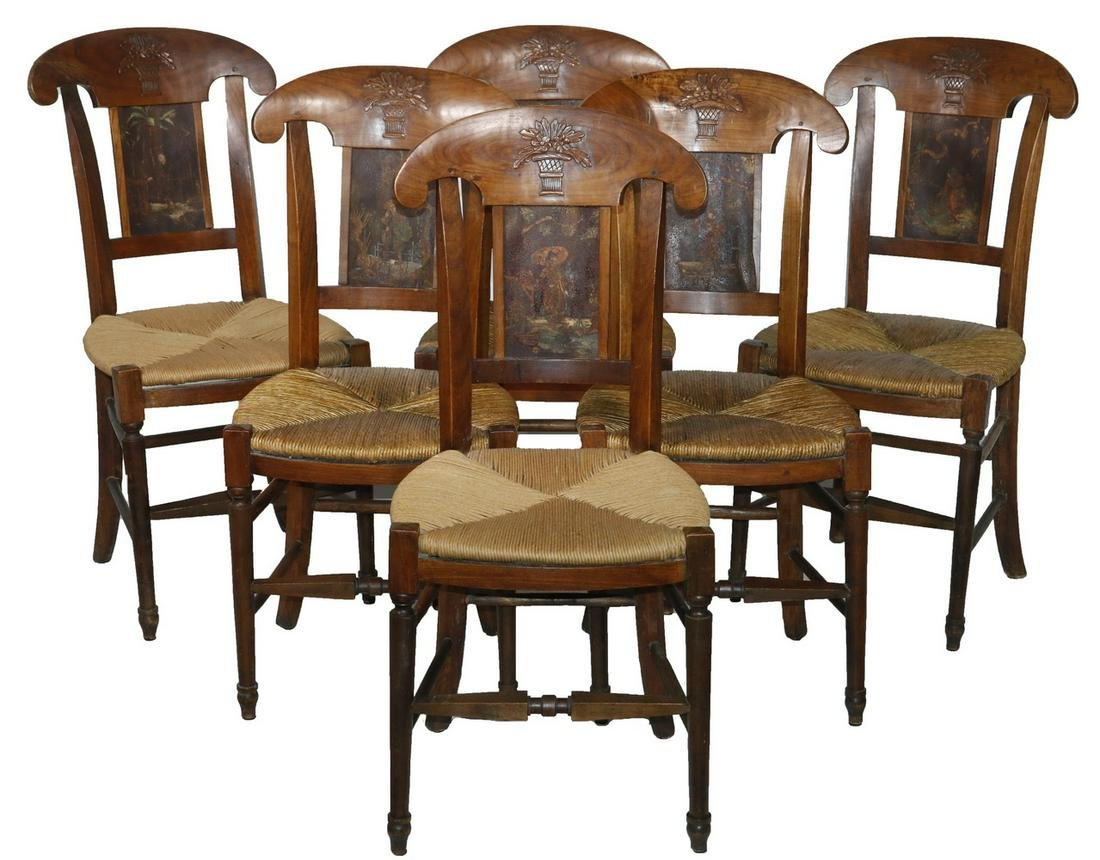 (6) FRENCH PROVINCIAL DINING CHAIRS