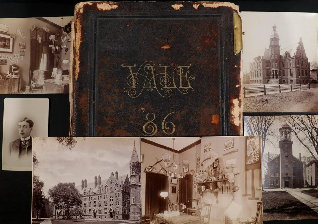 1886 YALE REAL PHOTO YEARBOOK HOLDING (252) PHOTOS