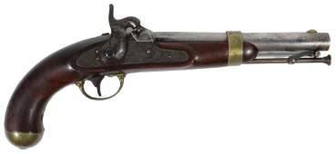 MEXICAN WAR ERA US NAVY BOARDING PISTOL US H ASTON