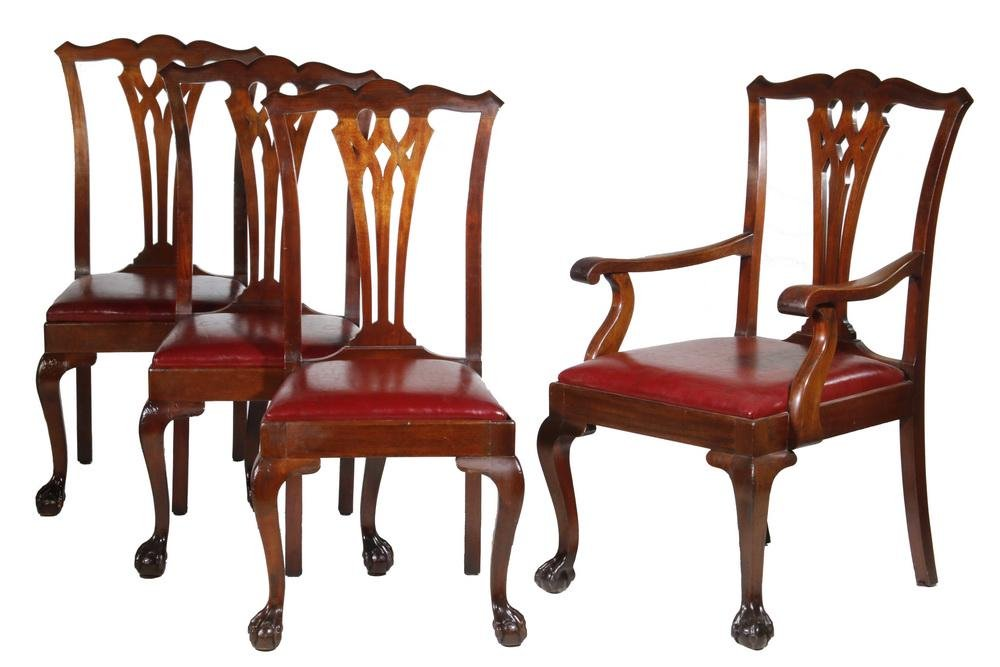 (9) CHIPPENDALE DINING CHAIRS