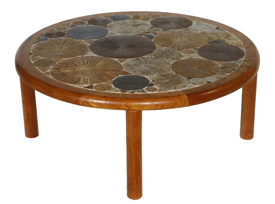 DANISH MODERN TABLE BY TUE POULSEN FOR HASLEV