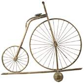 HI-WHEELER CYCLE FORM WEATHERVANE