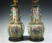 PR CHINESE PORCELAIN VASES AS LAMPS