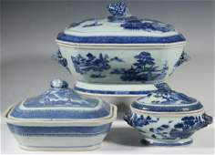 3 CHINESE NANKING SERVING PIECES