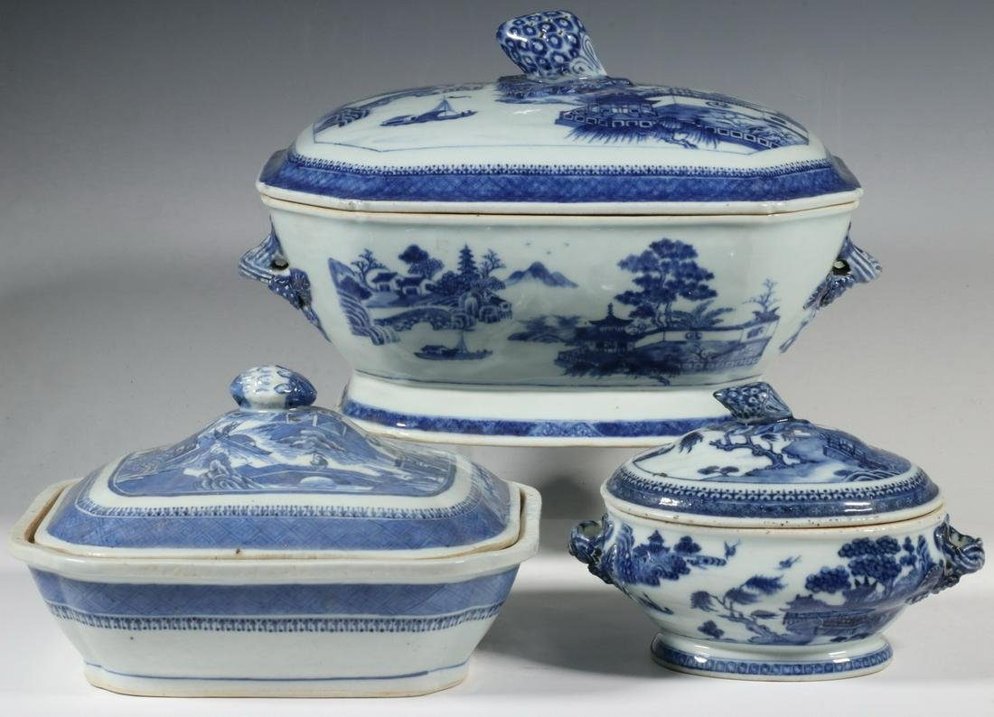 (3) CHINESE NANKING SERVING PIECES