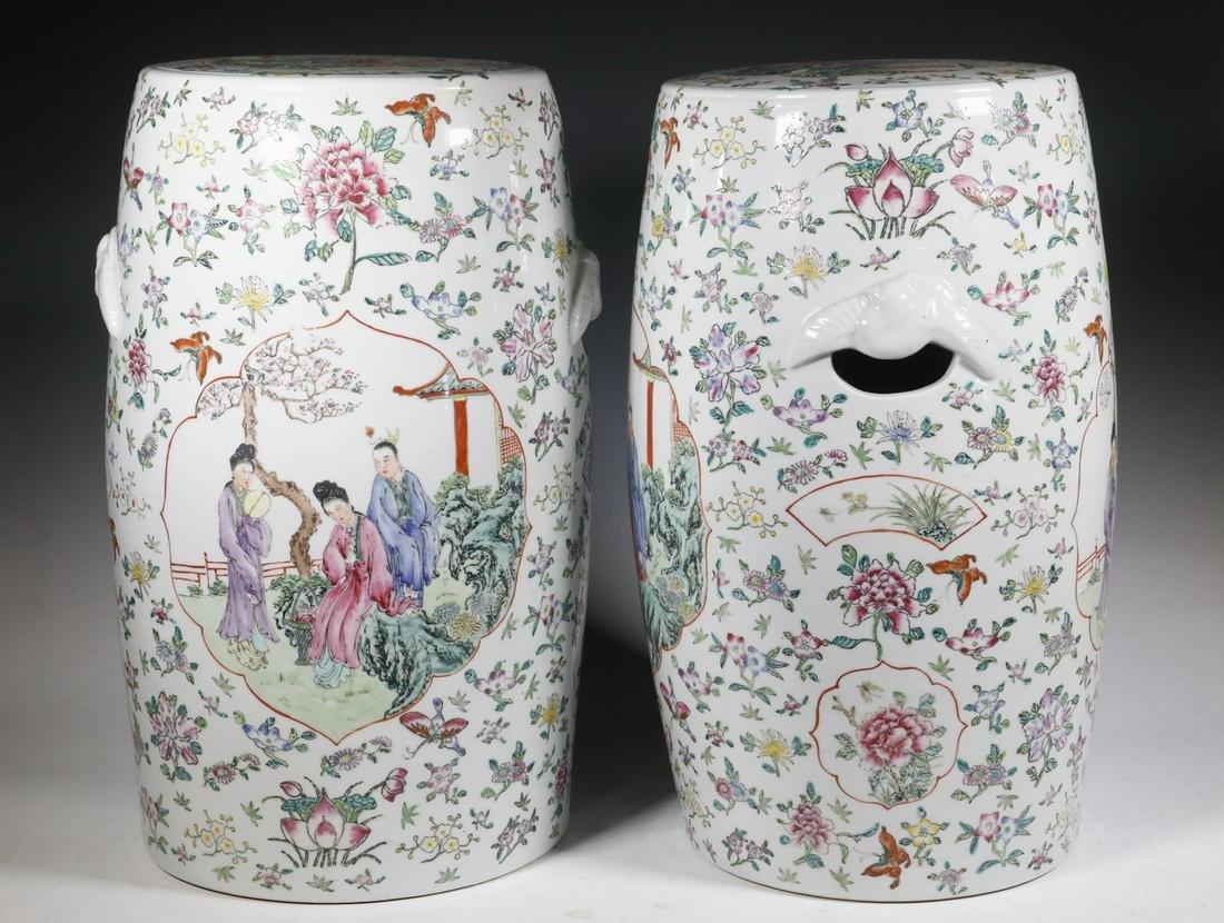 PR CHINESE 19TH C. PORCELAIN GARDEN SEATS
