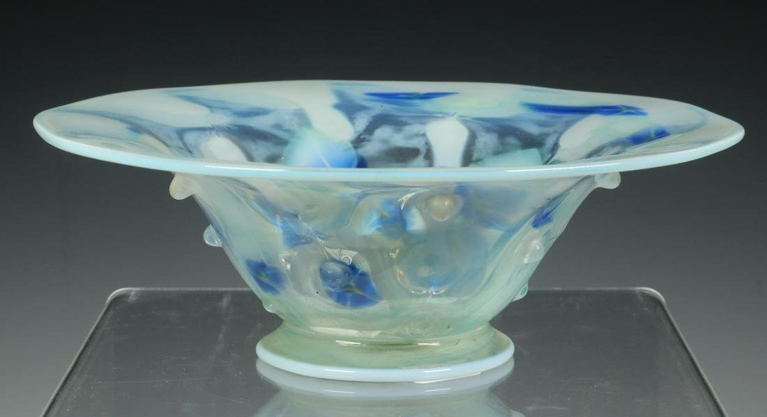 RARE TIFFANY FAVRILE MORNING GLORY PAPERWEIGHT BOWL