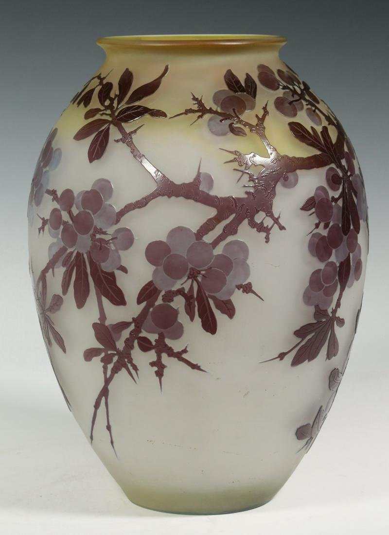 GALLE FRENCH ART GLASS VASE