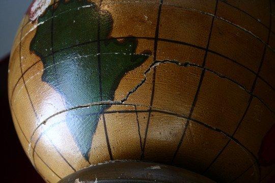 25: Pr Masonic Lodge Columns Wood Painted Globes - 5