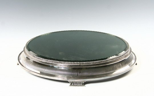 502: c1900 Plateau Round Silver Plate Forbes 2871-14