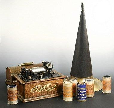 505: Edison Standard Cylinder Phonograph Boston MA