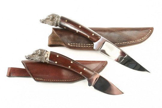 506: 2 English Made Knives Mitchell Monarch Sheffield