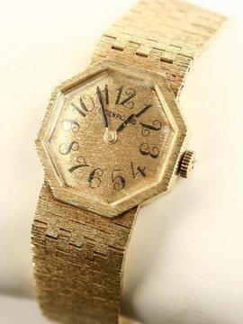 514: 14K Lady's Wristwatch Lucien Piccard Octagonal