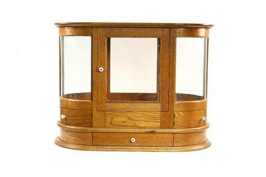 515: c1900 Oak Display Case Counter Top Jeweler's