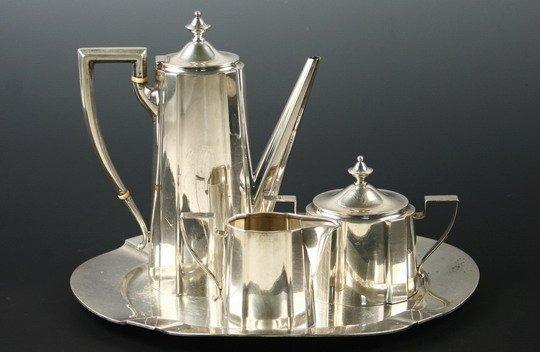 519: 4-Pc Sterling Tea Service Theodore B Starr NY