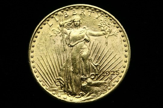 721: Standing Liberty 20 Dollar Gold Coin 1925